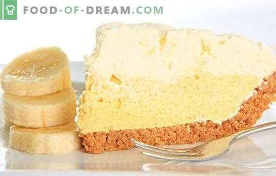 Кремот на банана торта е неспоредлив деликатес. Како лесно и брзо да се подготви оригиналната банана крем торта