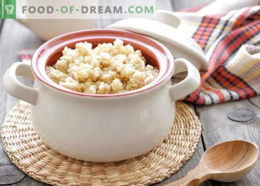 Каша од пченица - најдобри рецепти. Како да се готви пченица каша.