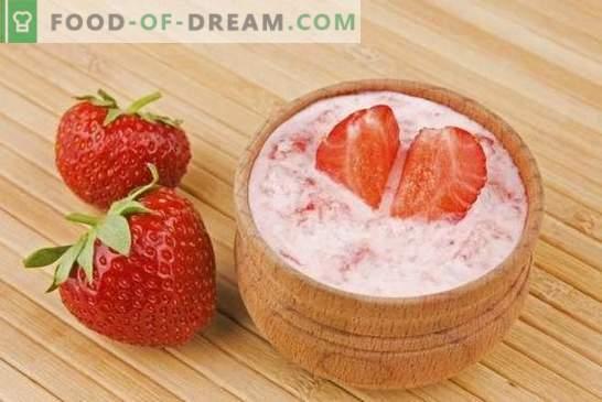 Desserts mit Erdbeeren: Rezepte mit Fotos für einen süßen Sommer. Varianten verschiedener Desserts mit Erdbeeren: Kuchen, Cremes, Eis, Pastila