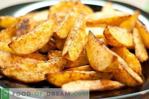 компири во земјата - најдобри рецепти. Како правилно и вкусно готви компири во една земја.