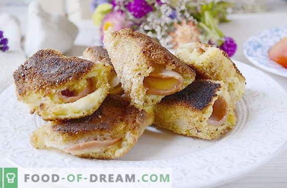 Брзи снекни ролни леб со колбаси и сирење. Ова не сте се обиделе!