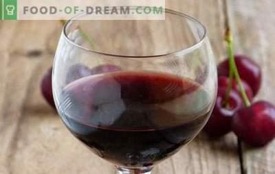 Vin de cires la domiciliu: punctele principale ale vinului. Rețete pentru vinuri de cireșe de casă