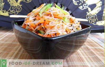 Фунхоза со моркови - ориентални белешки во секојдневното мени. Рецепти funchozy со моркови и месо, кромид, пиперки, краставици, зелка