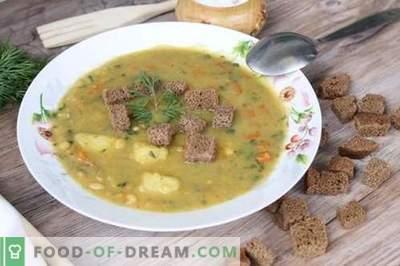 Грашок супа чекор-по-чекор рецепт со слика - буџет опција за целото семејство
