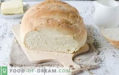 Бел леб во рерната - вкусни домашни колачи. Најдобри рецепти на бел леб во печката на вода, млеко, јогурт