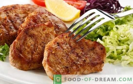 Свински стек во тава - научете како да вкусите месо вкусно! Најдобрите рецепти за свинско стек во тава во оригиналните маринади