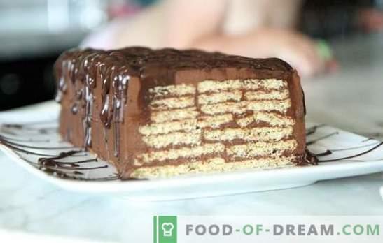 Торта без печење колачиња и кондензирано млеко - за неколку минути! Како да се направи торта од колачиња и кондензирано млеко без печење