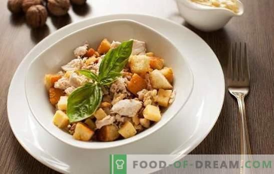 Салата со шунка и крекери - гответе во режим