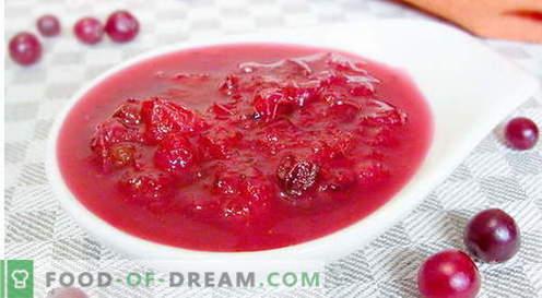 Сос од брусница - најдобриот рецепт. Како да правилно и вкусно готви брусница сос.