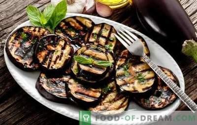Како да се готви модри патлиџани во тавче вкусно и брзо. Модерни јадења во тава со сирење, билки и зеленчук