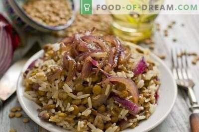 Mudjadara - ориз со леќа
