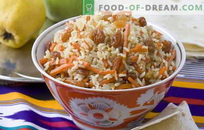 Брз пилаф - ние нема да правиме полошо од узбекистанскиот! Различни рецепти за посно пилаф: со печурки, суво грозје, наут, леќата, месо од соја