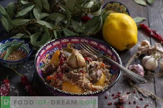 Мирисна пилаф со дуња и говедско месо