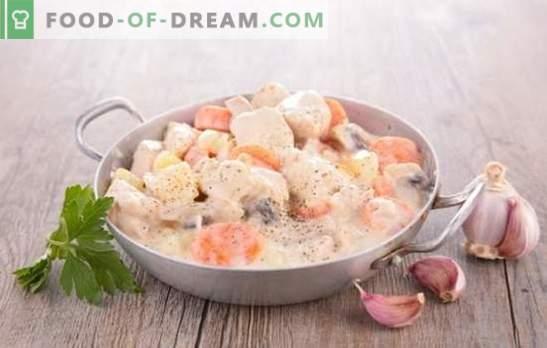 Свинското месо со печурки во крем сос е класика! Свинско месо со печурки во крем сос во тава, во рерна, во бавен шпорет
