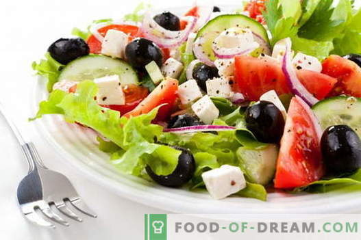 Грчка салата - најдобрите рецепти. Како правилно и вкусно гответе грчка салата