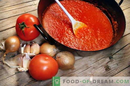 Сос од домати - најдобри рецепти. Како правилно да се готви сос од домати.