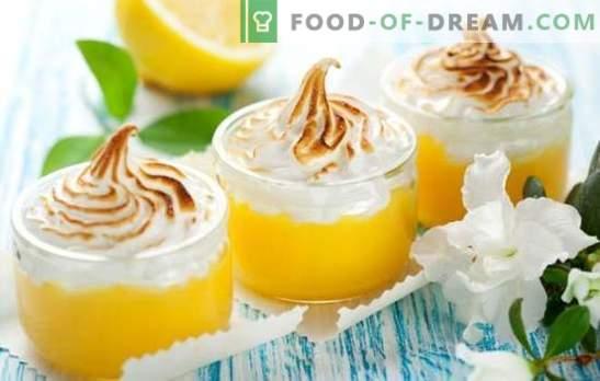 Лимон менинг - тендер менинг, вкусни крем и цитрус. Рецепти и тајни за готвење вкусни лимонски менинг