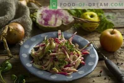 Вкусна и здрава ротквица салата со пилешко