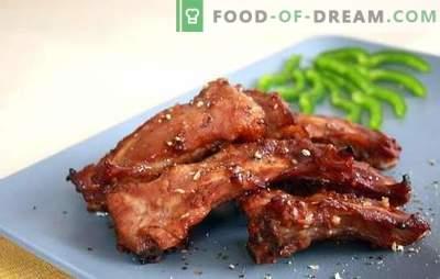 Свински ребра во бавен шпорет - ароматична закуска и целосно јадење. Рецепти на пржени и задушени свинско ребра во бавен шпорет