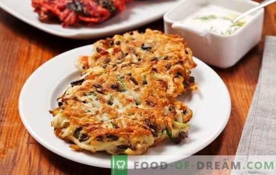 Компир палачинки со печурки - необични палачинки! Рецепти на мирисна и руди на палачинки со печурки