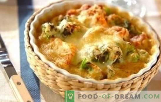 Пилешко со карфиол во рерната е одлично! Рецепти здрава и вкусна пилешки јадења со карфиол во рерната