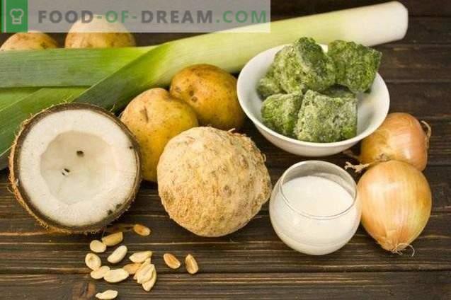 Суп за спанаќ-кокосов крем
