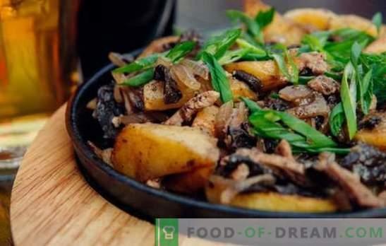 Месо пржено со кромид во тава - сите се среќни! Рецепти за пржено месо со кромид во тава со павлака и друг сос