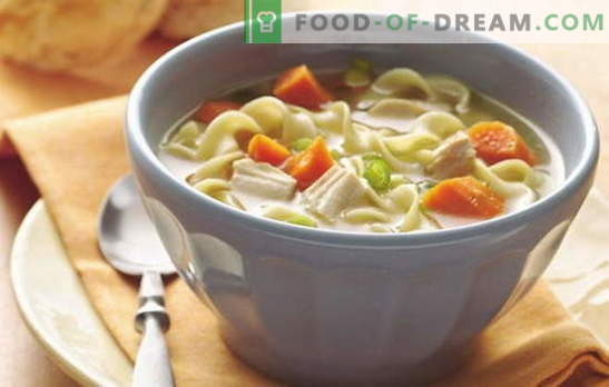 Едноставни супи за секој ден - 7 најдобри рецепти. Како да се готви едноставна супа за секој ден: печурки, пилешки, риби, итн