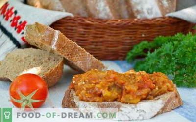 Кавијар за модар патлиџан - најдобри рецепти. Како да правилно и вкусно готви модар патлиџан кавијар.