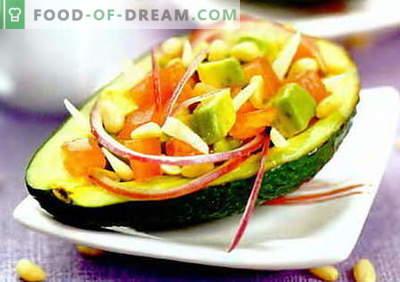 Салата од авокадо - најдобри рецепти. Како правилно и вкусно да се подготви салата со авокадо.