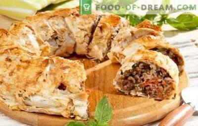 Месо пити од пита со мелено месо - лесно! Рецепти пити пити со мелено месо и сирење, компири, печурки, домати, тиквички