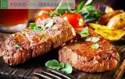 Стерилен свинско месо е месо! Готвење пржени, вкусни свинско стекови на скара на различни начини