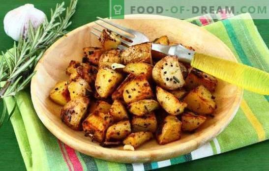 Печен компир во бавен шпорет - корисен! Рецепти од компири печени во мултикукер со зачини, во крем, со сирење, сланина и сл.