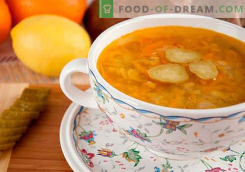 Salmoura de picles de cevada - as melhores receitas. Como corretamente e saboroso cozinhar picles com cevada.