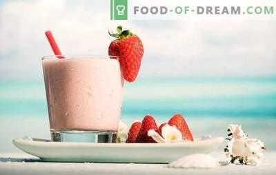Почувствувајте го позитивниот ден - млекото со јагоди! Рецепти млекари со јагоди и чоколада, банана, малини