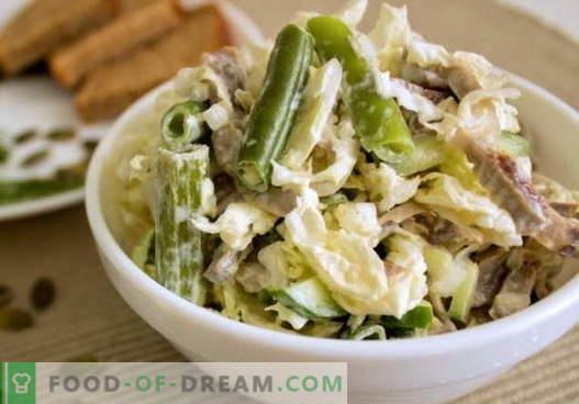 Салата од пилешки стомак - избор на најдобри рецепти. Како правилно и вкусно да се подготви салата со пилешки јадиња.
