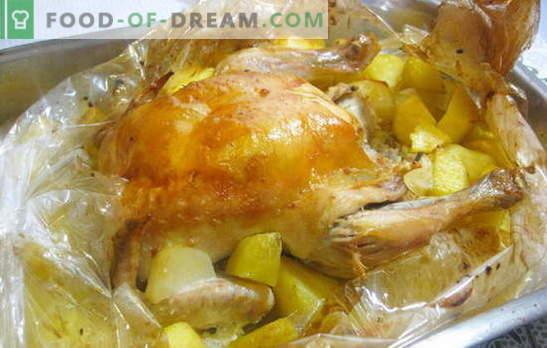 Пилешко во ракав со компири во печката е супер лесно! Рецепти пилешки во ракавот со компири во целата рерна и парчиња