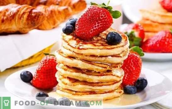 Национален знак: млекото кисело на палачинки од кисело млеко. Вкусни и разновидни појадоци - палачинки од кисело млеко
