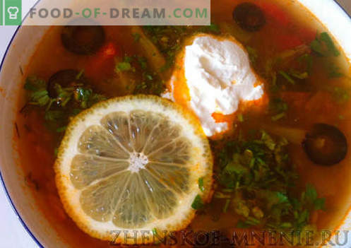 супа од Солянка - рецепт со фотографии и опис по чекор по чекор