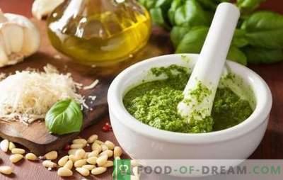 Домашен песто сос - ја отвори тајната на тајниот вкус! Рецепти за правење сос од Песто со босилек дома