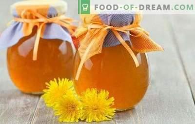 Глуварче сируп - подготовка на витамини! Рецепти корисни сируп од глуварчињата со шеќер и лимон, зачини, ѓумбир, мед
