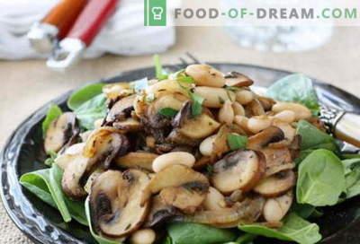Салата со пржени печурки - избор на најдобри рецепти. Како правилно и вкусно да се готви салата со пржени печурки.