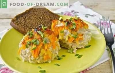 Ежови од мелено месо со ориз во пан - едноставен и оригинален. Ежови рецепти од мелено месо со ориз во тава во крем, месо, сос од зеленчук