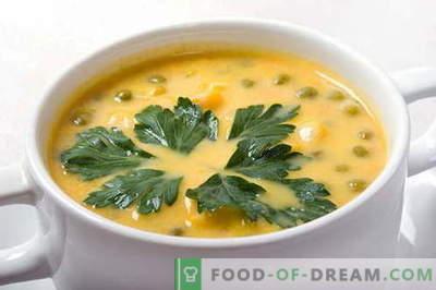 Супа од грашок - најдобри рецепти. Како да правилно и вкусно готвач грашок супа.