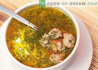 Супа од месо - најдобри рецепти. Како правилно и да готви супа со ќофтиња.