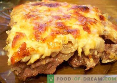 Месо со сирење - најдобри рецепти. Како правилно да се готви месо со сирење.