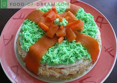 Детски роденденски салати - првите пет рецепти. Како правилно и вкусно да се подготват детски роденденски салати.