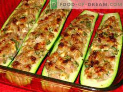 Calabacines rellenos de carne al horno, recetas de cocina