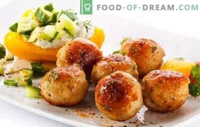 Свинско ќофтиња - профитабилен оброк! Рецепти од различни ќофтиња со свинско и зеленчук, печурки, ориз, хељда, сирење