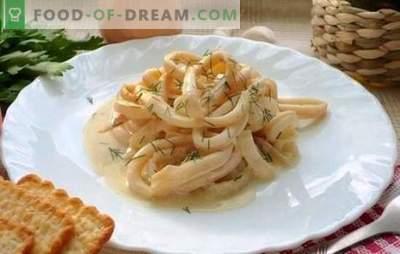 Капсули во крем сос - најнежната комбинација! Рецепти сочни каламари во крем сос со сирење, печурки, вино, маслинки, домати